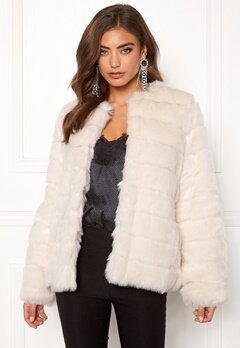 Make Way Freia faux fur jacket Cream Bubbleroom.eu