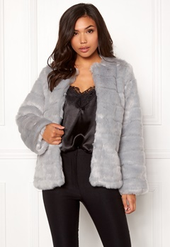 Make Way Freia faux fur jacket Light grey Bubbleroom.eu