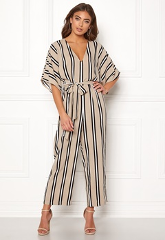 Make Way Gracie jumpsuit Beige / White / Black Bubbleroom.eu