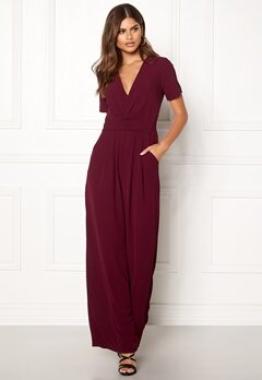 Make Way Harlee jumpsuit Wine-red Bubbleroom.eu