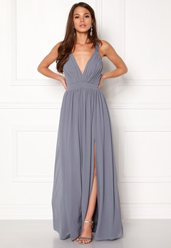 Make Way Jonna Maxi Dress Dusty blue Bubbleroom.eu