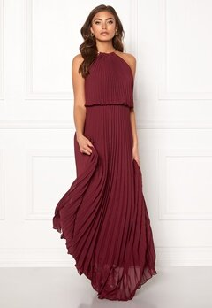 Make Way Leilani maxi dress Wine-red Bubbleroom.eu