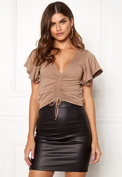 Make Way Lenora top Brown Bubbleroom.eu