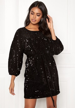 Make Way Lettie sequin dress Black Bubbleroom.eu