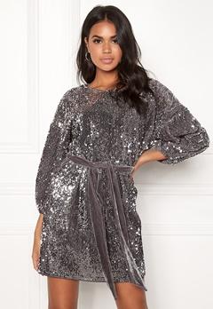 Make Way Lettie sequin dress Grey Bubbleroom.eu