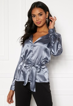 Make Way Meya blouse Grey-blue Bubbleroom.eu