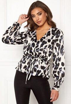 Make Way Miriam blouse Black / Leopard Bubbleroom.eu
