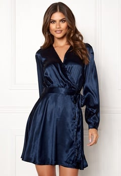 Make Way Ophelia wrapped dress Dark blue Bubbleroom.eu