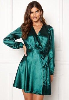 Make Way Ophelia wrapped dress Dark green Bubbleroom.eu