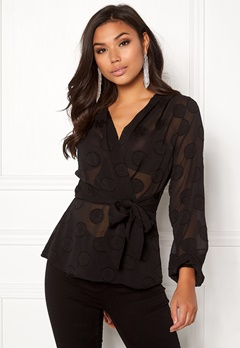 Make Way Parthenia blouse Black Bubbleroom.eu