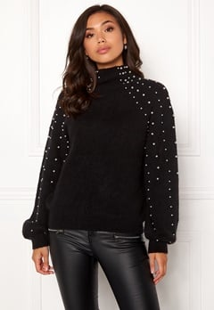 Make Way Pearlie knitted sweater Black Bubbleroom.eu
