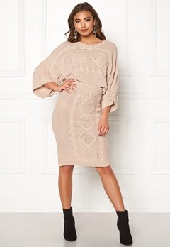 Make Way Rania knitted skirt Beige Bubbleroom.eu