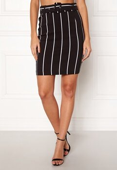 Make Way Roxanna skirt Black / White / Striped Bubbleroom.eu