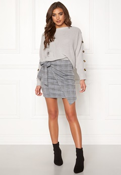 Make Way Sherida skirt Grey / Checked / Blue Bubbleroom.eu