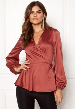 Make Way Smilla blouse Rust Bubbleroom.eu