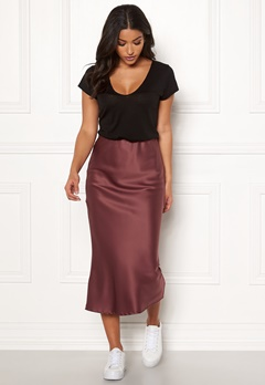 Make Way Teoli skirt Dark old rose Bubbleroom.eu