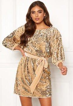 Make Way Lettina sequin dress Gold-coloured Bubbleroom.eu