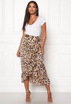 ONLY Malou Wrap Skirt Black/Leo Bubbleroom.eu