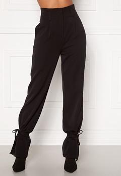 Martine Lunde X Bubbleroom Tied suit trousers Black Bubbleroom.eu