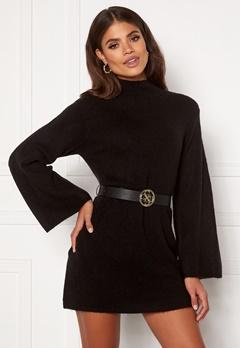 Martine Lunde X Bubbleroom Wide sleeve knitted dress Black Bubbleroom.eu