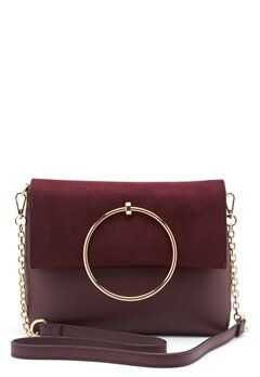 New Look Matilda Metal Handle Bag Dark Burgundy Bubbleroom.eu