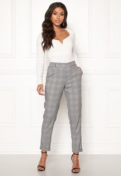 VERO MODA Maya MR Loose Check Pant Black Checks: White Bubbleroom.eu