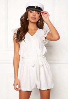 DRY LAKE Megan Playsuit White Lace Bubbleroom.eu