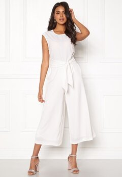 VILA Melis Cropped Jumpsuit White Bubbleroom.eu