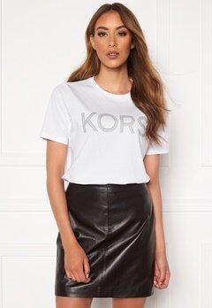 Michael Michael Kors Kors Graphic T-Shirt 100 White Bubbleroom.eu