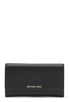 Michael Michael Kors Large 3 Folder Wallet 001 Black Bubbleroom.eu