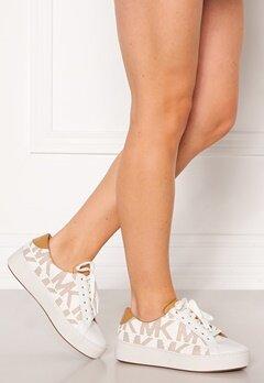 Michael Michael Kors Poppy Lace Up Sneakers Shiny White/Peanut Bubbleroom.eu