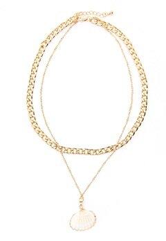 Pieces Millie Combi Necklace Gold Colour Bubbleroom.eu