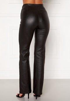 Moa Mattsson X Bubbleroom Coated flared trousers Black Bubbleroom.eu