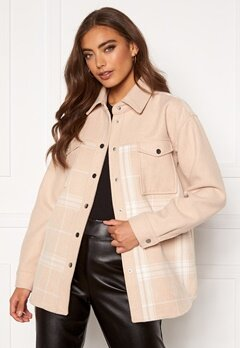 Moa Mattsson X Bubbleroom Part checked jacket Beige Bubbleroom.eu