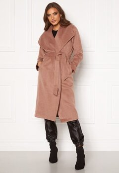 Moa Mattsson X Bubbleroom Pointy collar coat Brown Bubbleroom.eu