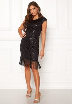 Moments New York Aida Beaded Dress Black Bubbleroom.eu