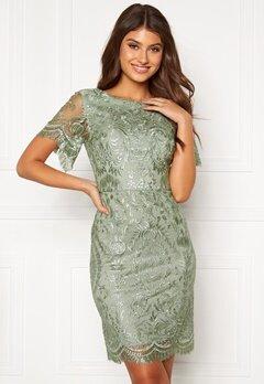 Moments New York Alexandra Beaded Dress Light green Bubbleroom.eu