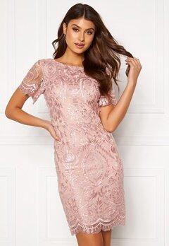 Moments New York Alexandra Beaded Dress Pink Bubbleroom.eu