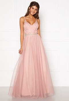 Moments New York Anessa Sparkle Gown Light pink Bubbleroom.eu