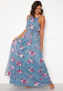 Moments New York Aster Chiffon Gown Floral Bubbleroom.eu