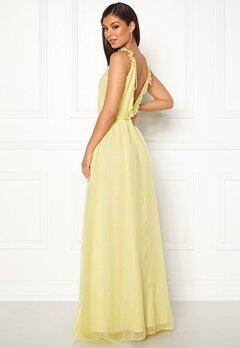 Moments New York Aster Chiffon Gown Light yellow Bubbleroom.eu
