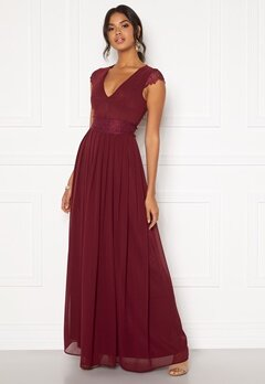 Moments New York Athena Chiffon Gown Wine-red Bubbleroom.eu