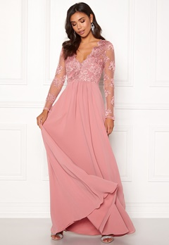 a55f9ad6 Moments New York Azalea Lace Gown Dusty pink Bubbleroom.eu