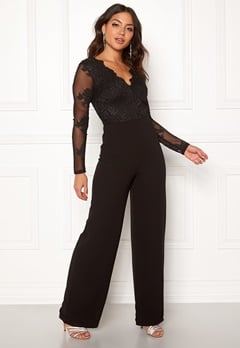 Moments New York Azalea Lace jumpsuit  Black Bubbleroom.eu