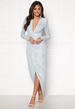 Moments New York Becca Lace Gown Light blue Bubbleroom.eu