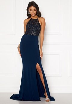 Moments New York Bella Sparkle Gown Navy Bubbleroom.eu
