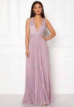 Moments New York Bryony Lurex Gown Light pink / Silver Bubbleroom.eu