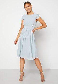Moments New York Camellia Chiffon Dress Grey-blue Bubbleroom.eu