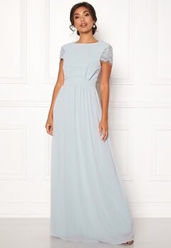 Moments New York Camellia Chiffon Gown Blue-grey Bubbleroom.eu