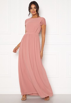 Moments New York Camellia Chiffon Gown Dark old rose Bubbleroom.eu